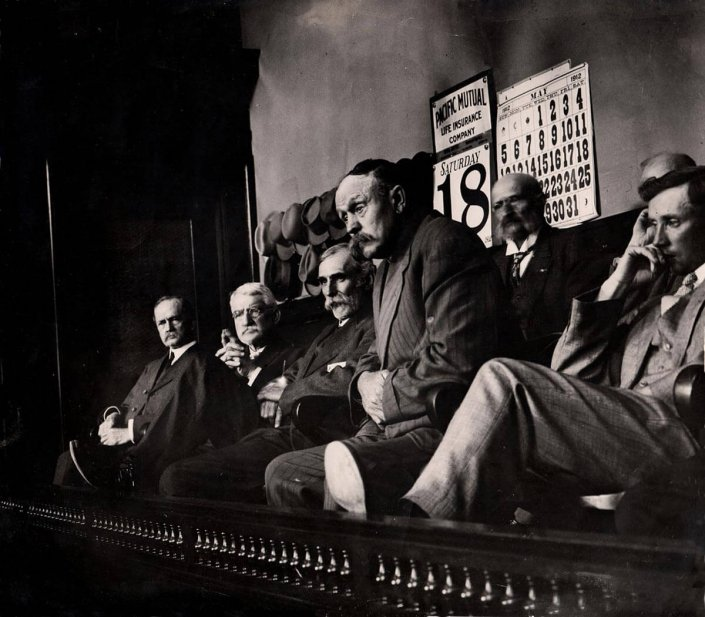 Jurors in Clarence Darrow's First Bribery Trial, May 18, 1912: The Clarence Darrow Digital Collection, University of Minnesota Law Library