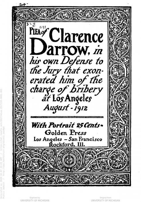 Attorney Clarence Darrow: Herald Examiner Collection / Los Angeles Public Library