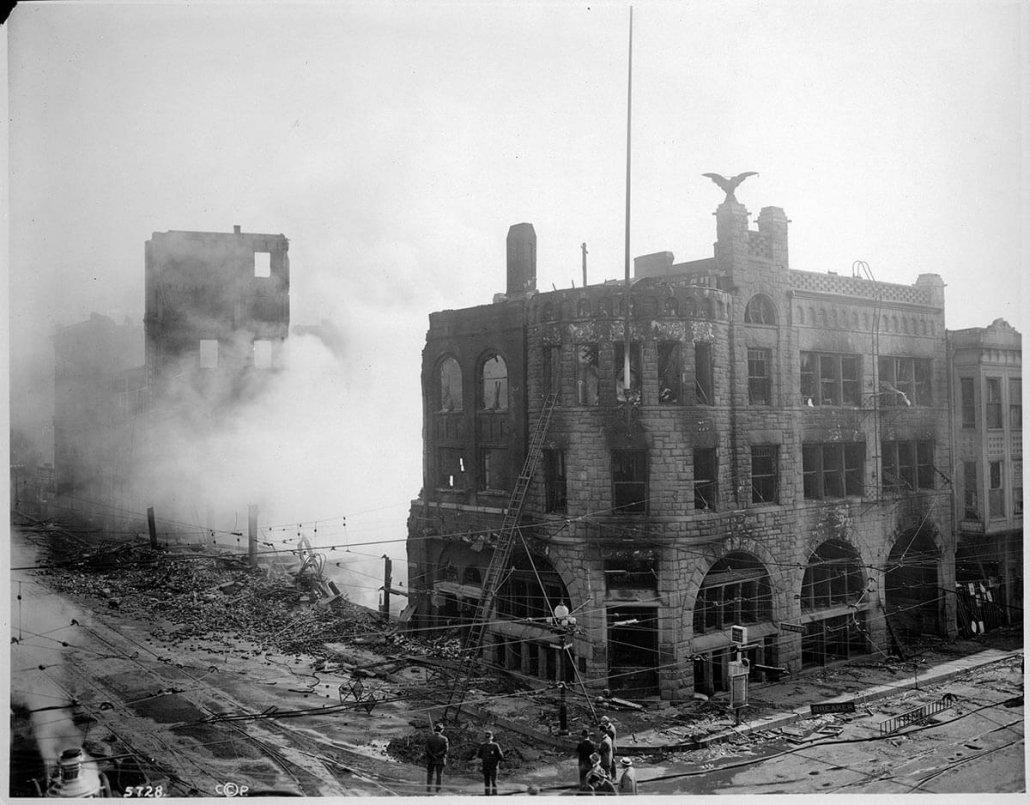LA Times Building (Post-bombing): Los Angeles Times